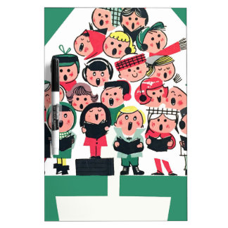 Christmas Carolers Dry-Erase Board