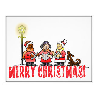 Christmas Carolers Flyer Design