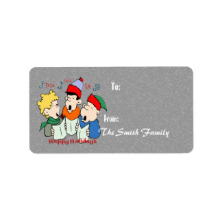 Christmas Carolers - Gift Tags Address Label