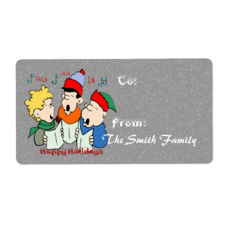 Christmas Carolers - Gift Tags (large) Personalized Shipping Labels