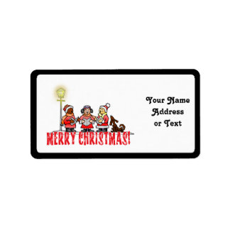 Christmas Carolers Personalized Address Label