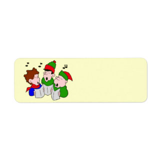 Christmas Carolers Labels