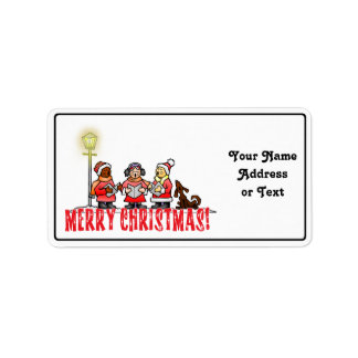Christmas Carolers Address Label