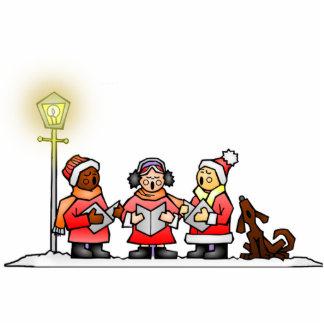 Christmas Carolers Standing Photo Sculpture