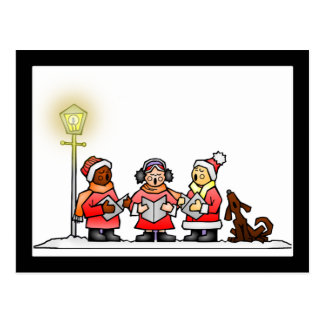 Christmas Carolers Postcard