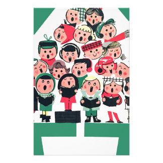 Christmas Carolers Stationery