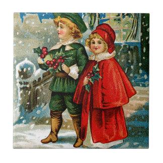 Christmas Carolers Tile