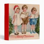 Christmas Caroling Kids Binder