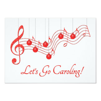 Christmas Caroling Party Card