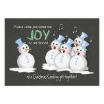 Christmas Caroling Party Singing Snowmen Joy Custom Invitations