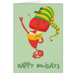 Christmas Caroling Robot Greeting Cards
