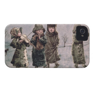 Christmas Caroling (w/c on paper) iPhone 4 Covers