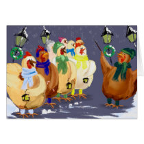 Christmas Carolling Chickens card! Card