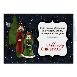 Christmas Carols Card