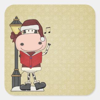 Christmas Carols - Cow Square Sticker