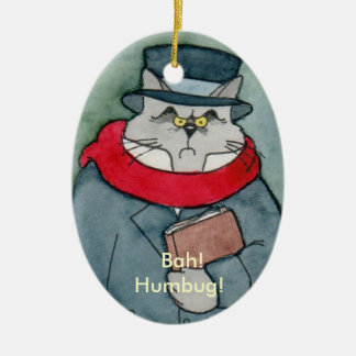 Christmas Carol's EbeMeowzer Scrooge Ceramic Ornament