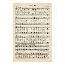 Christmas Carols: Jingle Bells Postcard