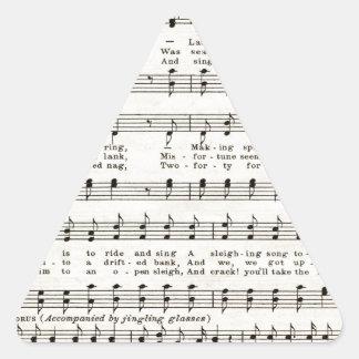 Christmas Carols: Jingle Bells Triangle Sticker