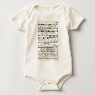 Christmas Carols: Joy to the World Baby Bodysuit