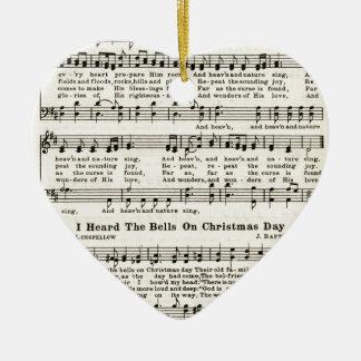 Christmas Carols: Joy to the World Ceramic Ornament