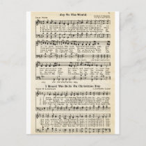Christmas Carols: Joy to the World Holiday Postcard
