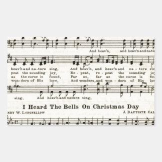 Christmas Carols: Joy to the World Rectangular Sticker