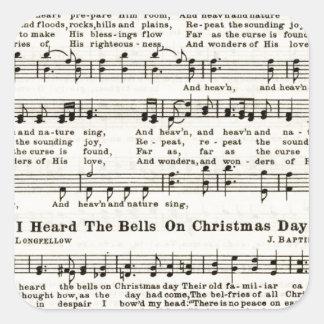 Christmas Carols: Joy to the World Square Sticker