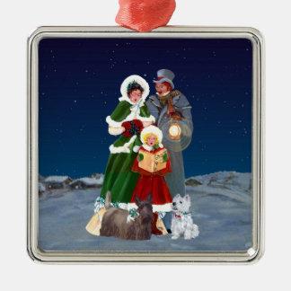 Christmas Carols Metal Ornament