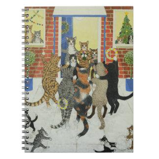 Christmas carols spiral notebook