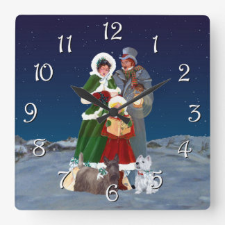 Christmas Carols Square Wall Clock