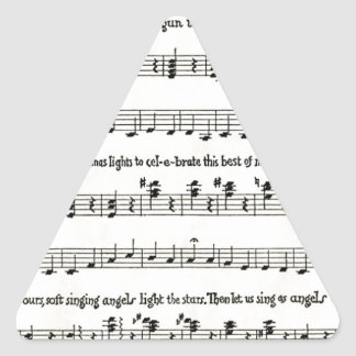 Christmas Carols The Children s Carol Triangle Sticker