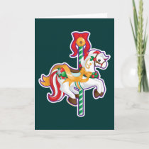 Christmas Carousel Holiday Card