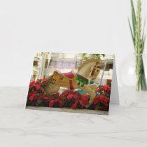 Christmas Carousel Horse - 1 Holiday Card