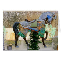 Christmas Carousel Horse - 3 Card