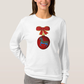 Christmas Carousel Horse Cute Holiday T-Shirt