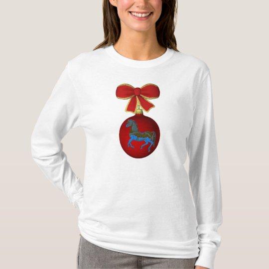 Christmas Carousel Horse Cute Holiday T-Shirt