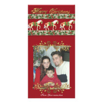Christmas Carousel horses Photo card