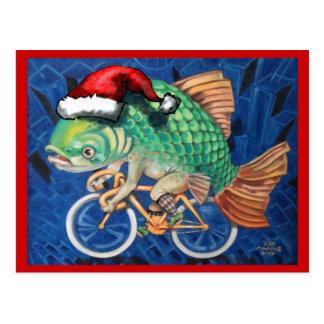 Christmas Carp Postcard