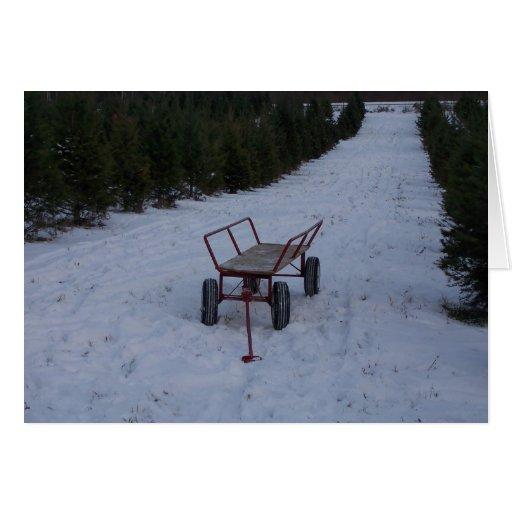 Christmas Cart Card