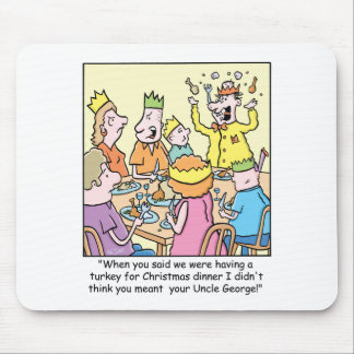 Christmas Cartoon about relatives. Mouse Pad