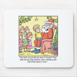 Christmas Cartoon about Santas New Glasses Mouse Pad