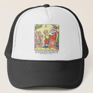 Christmas Cartoon about Santas New Glasses Trucker Hat