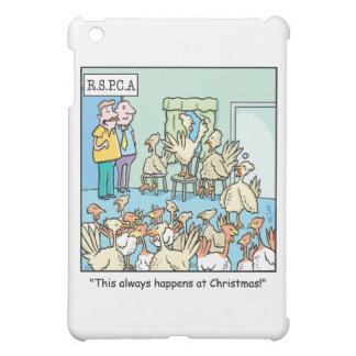 Christmas Cartoon about Turkeys iPad Mini Cover