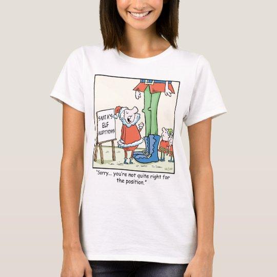 Christmas Cartoon  Elf  Audition T-Shirt