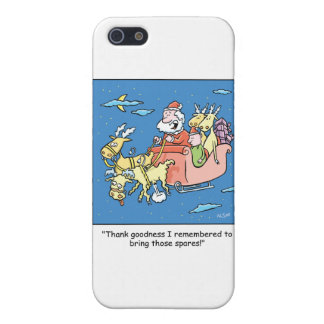 Christmas Cartoon Flat Reindeer iPhone SE/5/5s Cover