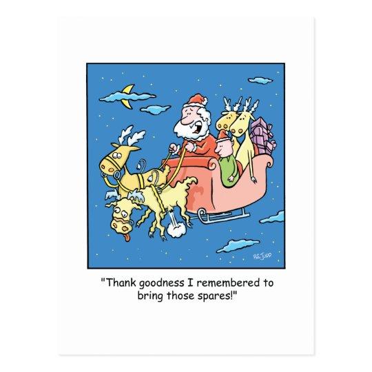 Christmas Cartoon Flat Reindeer Postcard