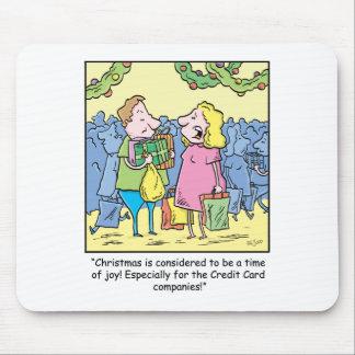 Christmas Cartoon Gift on Credit Mouse Pad