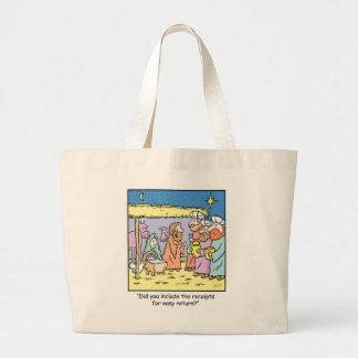 Christmas Cartoon Gift Receipts Tote Bags