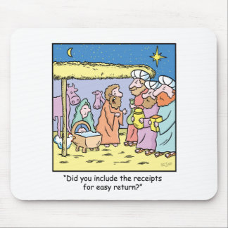 Christmas Cartoon Gift Receipts Mouse Pad