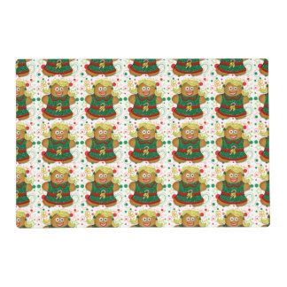 Christmas Cartoon Gingerbread Cookie Placemat